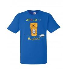 Apacuka póló - Hangfalatok - világoskék