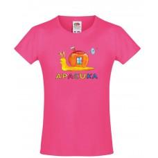 Apacuka póló - csigás - rózsaszín