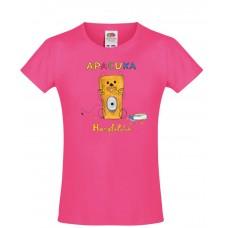 Apacuka póló - Hangfalatok - rózsaszín