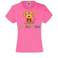 Apacuka póló - egeres - rózsaszín